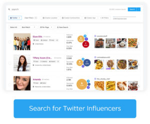 Search SponsoredTweets for Twitter Influencers